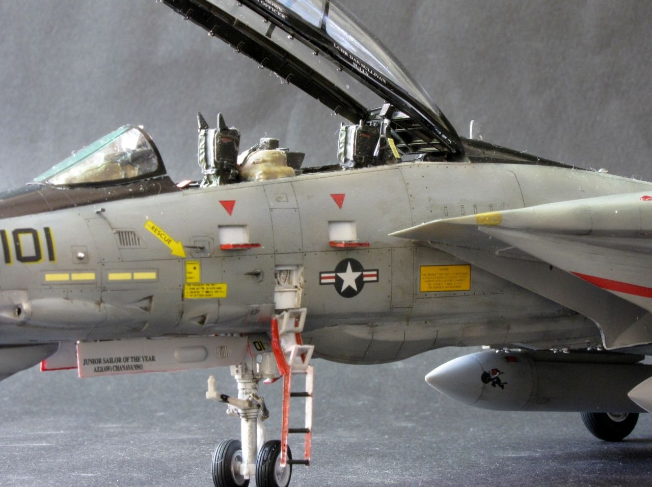 F-14D Tomcat VF-31 Tomcatters (Pencil) by Michael Hickey (Hasegawa 1:48)