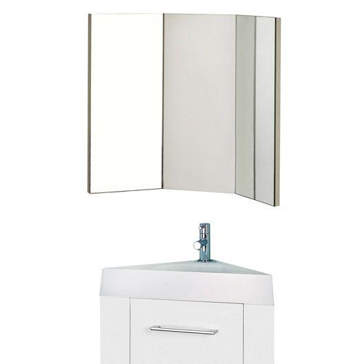 Meuble lave-mains avec miroir SENSEA Remix, blanc blanc n°0 WC - meuble pour wc suspendu leroy merlin