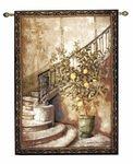 "Lemon Stairwell Tapestry - 56""W x 80""H"