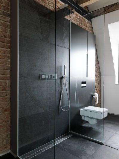 Pin By J A N N I On Bath Doorless Shower Shower Bathroom