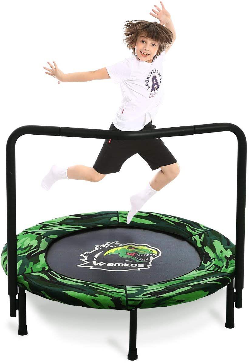 Wamkos 2020 Upgraded Dinosaur Mini Trampoline for Kids in