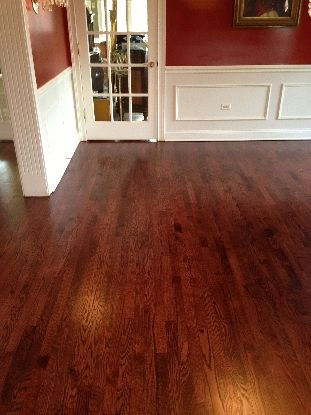 Red Oak With Mahogany Stain And