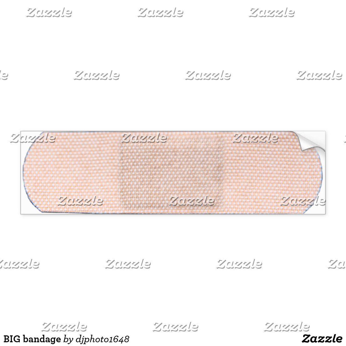 Big Bandage Bumper Sticker Zazzle Com Bumper Stickers Bumpers Strong Adhesive [ 1106 x 1106 Pixel ]