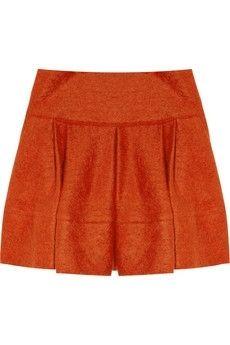 Markus Lupfer|Pleated knitted mini skirt|NET-A-PORTER.COM - StyleSays