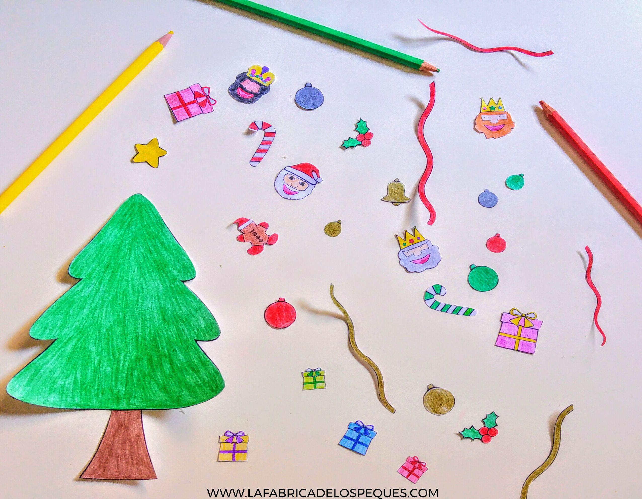 Imprimibles infantiles gratis árbol navidad papel | Navidad ...