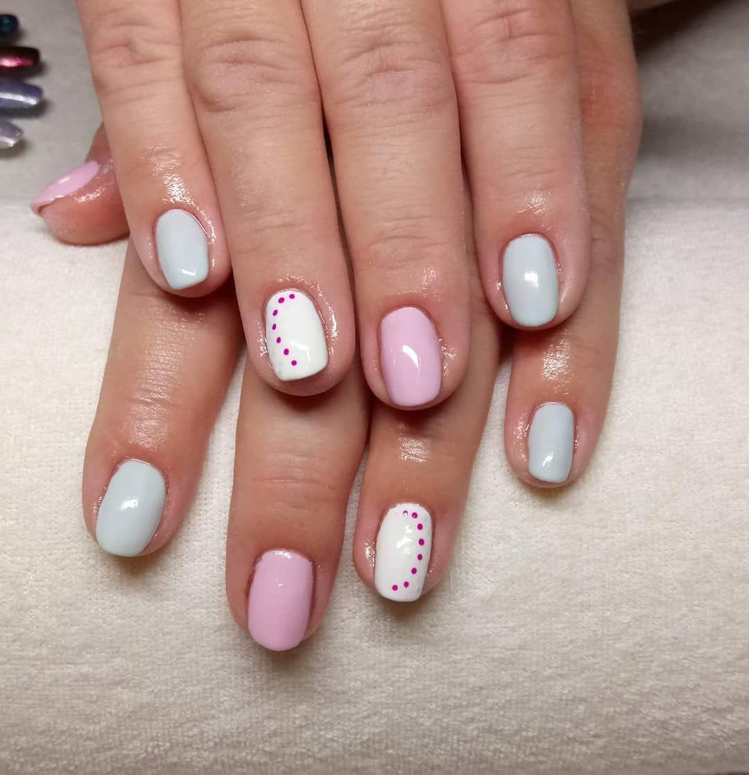 Kropki Kropeczki Nails Nailsbyme Instanails Paznokcie