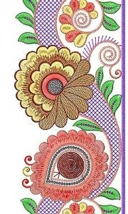 Fancy floral creative border design lace stitch cute crafts also machine embroidery designs sewing rh pinterest