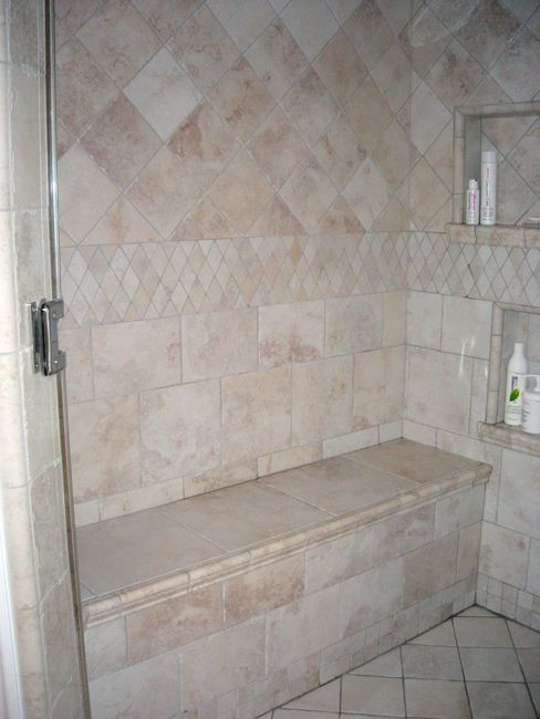 images about built in seatsshower on  bathrooms santa cecilia  granite and travertine. Padded Folding Shower Seat White  Shower Seats For Disabled  Ada
