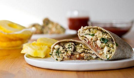 High Protein Vegan Breakfast Burrito