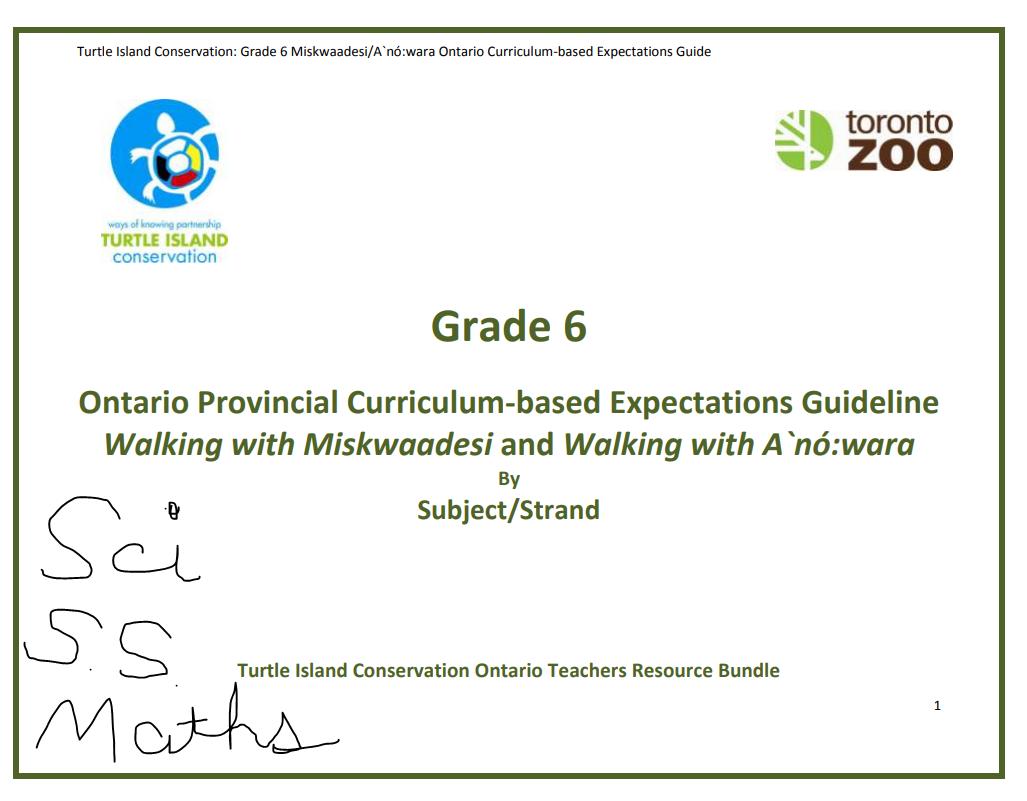 Toronto Zoo Turtle Island Grade 6 expectations in 2020