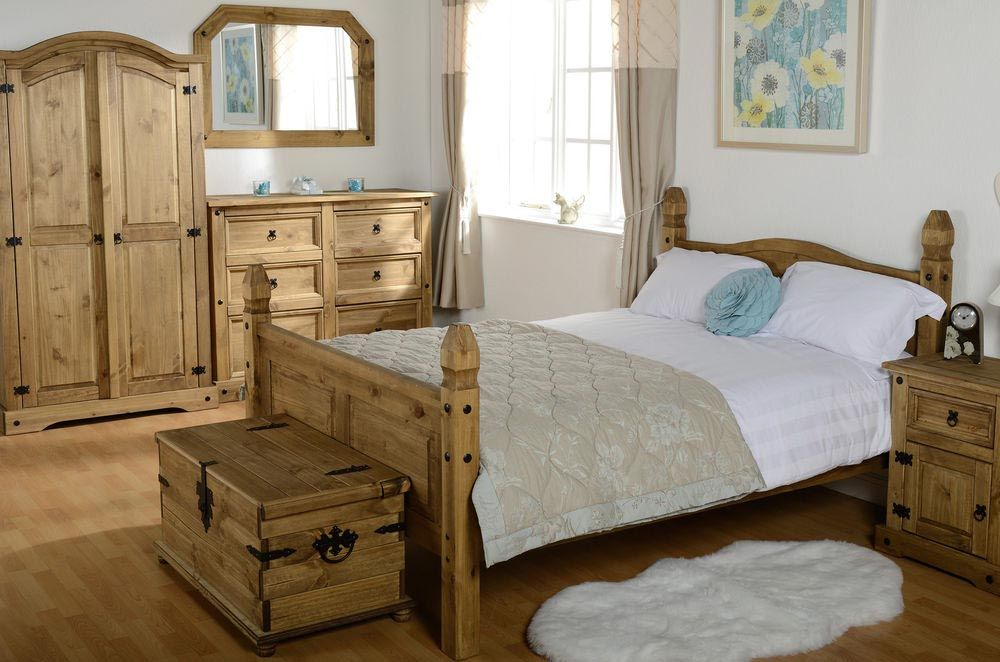 Rustic Painted Mexican Furniture Pine, Mexican Rustic Bedroom Furniture