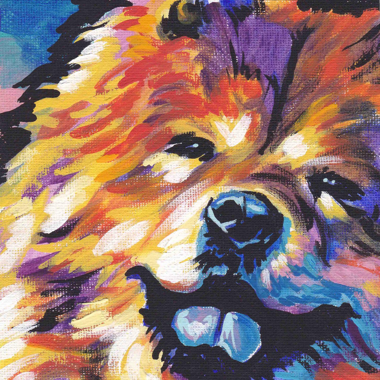 Chow Chow Art Print Modern Dog Pop Art Bright Colors 8x8 Dog Pop