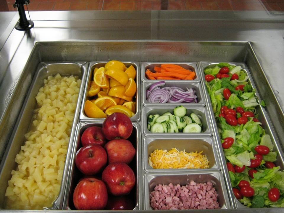 TIP: Create a quilt of colors on your salad bar with fresh ...  Salad Bar Luncheon Ideas