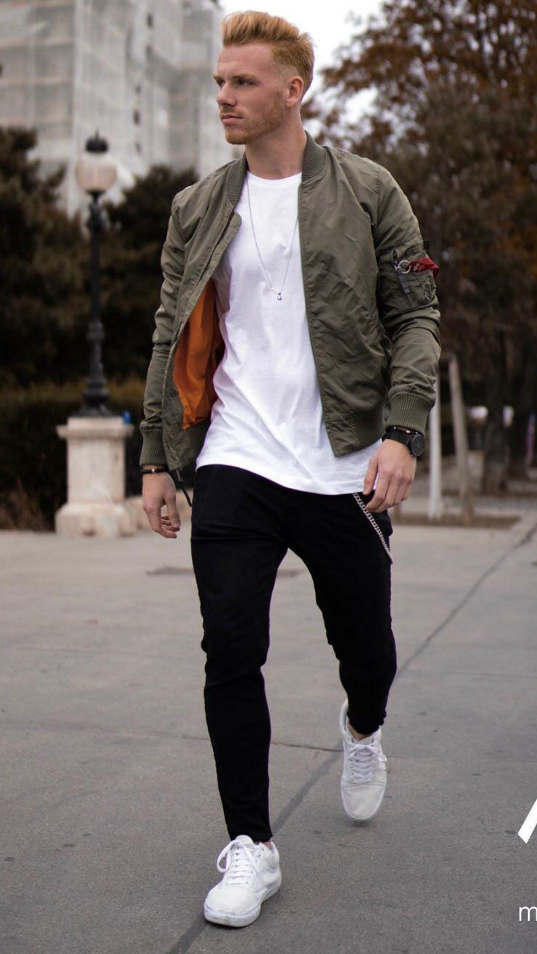 5 Bomber Jacket Outfits To Wear Every Fall Weekends Bomber Jacket Outfit Mens Outfits Men Bomber Jacket Outfit [ 1920 x 1080 Pixel ]