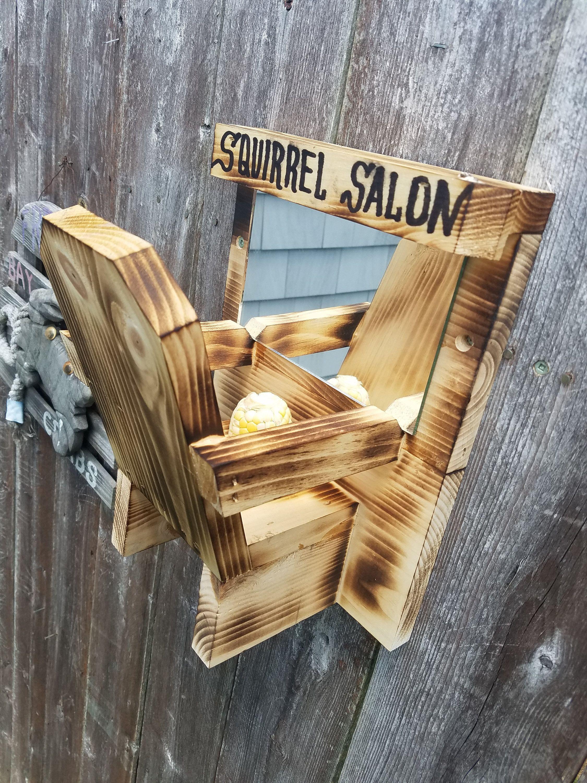 Hair salon corn feeder for squirrels etsy in 2020