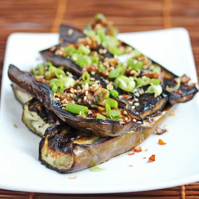 Asian Grilled Eggplant with Spicy Soy Sesame Sauce #summerfest - Yum! Gonna try this one!