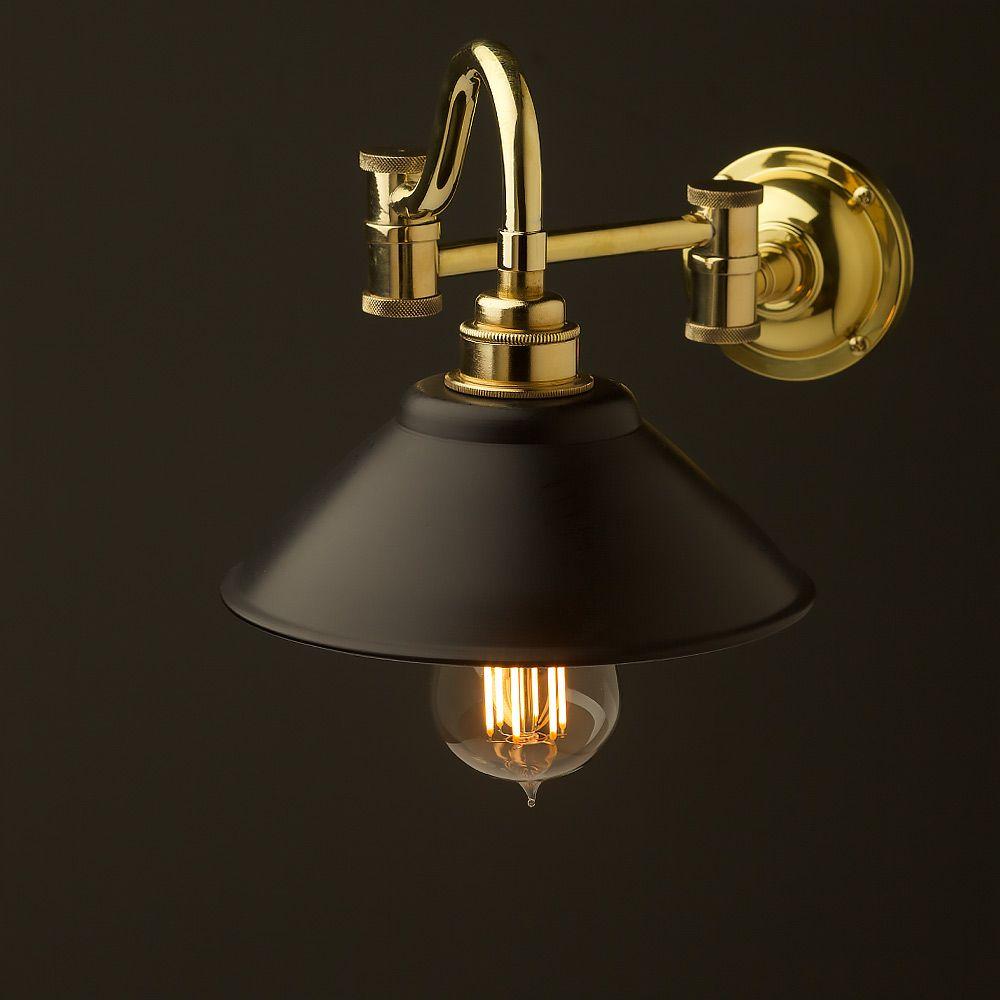 Horizontal Bend Adjustable Solid Brass Arm Wall Light Wall Lights Wall Light Fittings Light Fittings