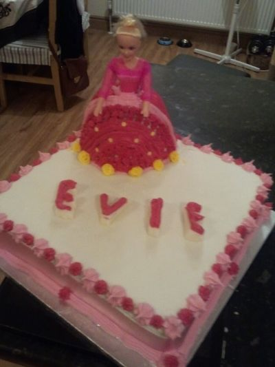 Pink doll fruit cake By lkeogh on CakeCentral.com