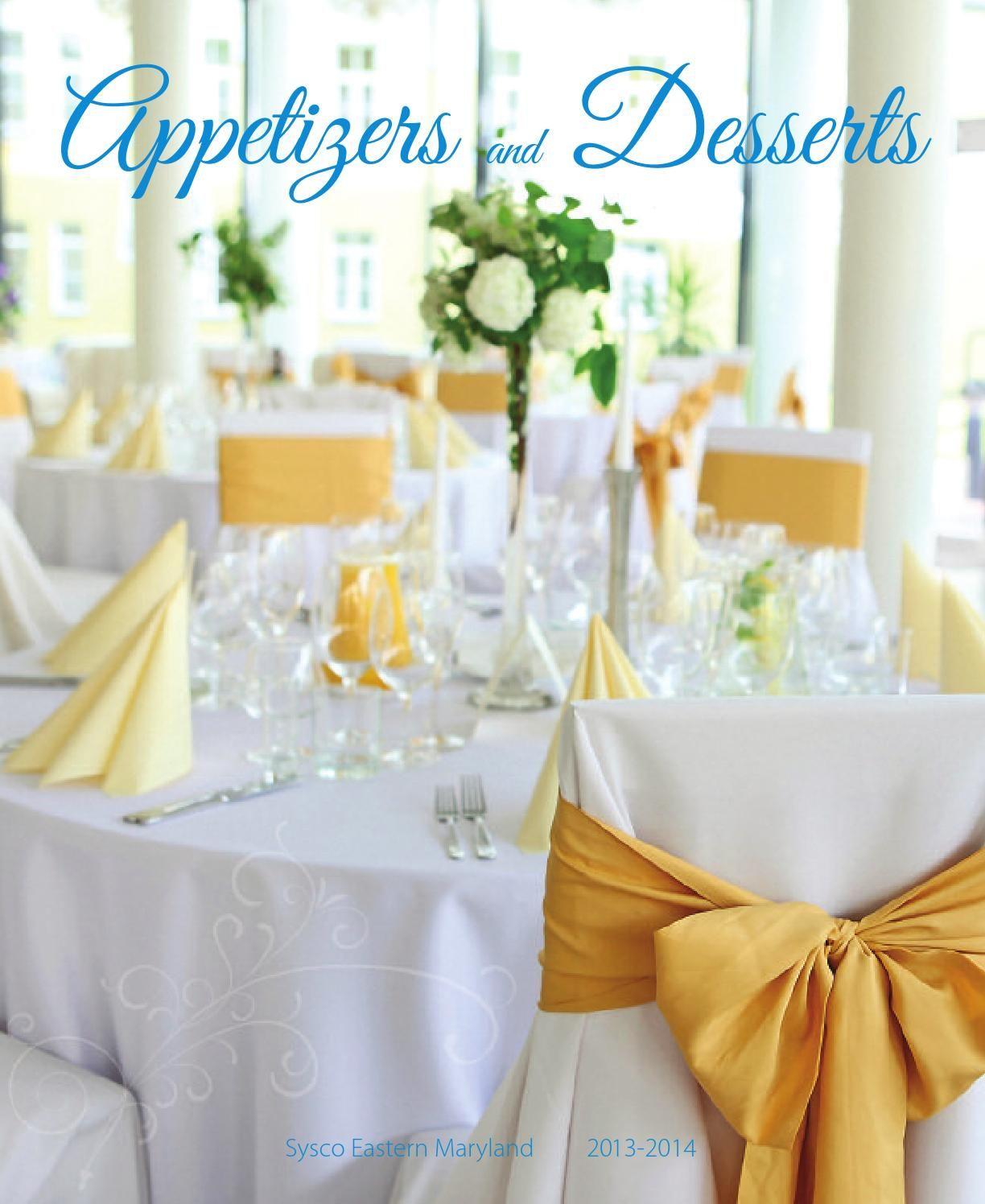 Sysco Eastern Maryland Appetizer Dessert Guide 2013 2014