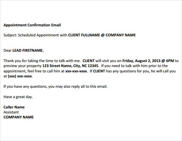 Confirmation Email Template Premium And Free Download Pdf Word