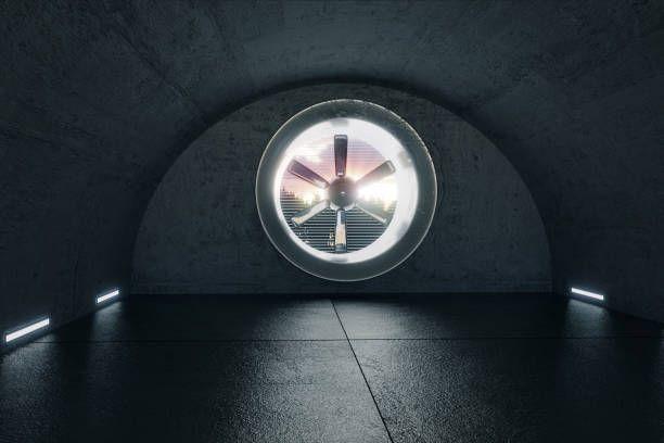 3d Render Of Concrete Garage With Ventilation System