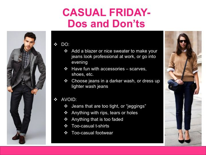 b9725e58aa73c Casual Friday Dress Code Dos and Don ts