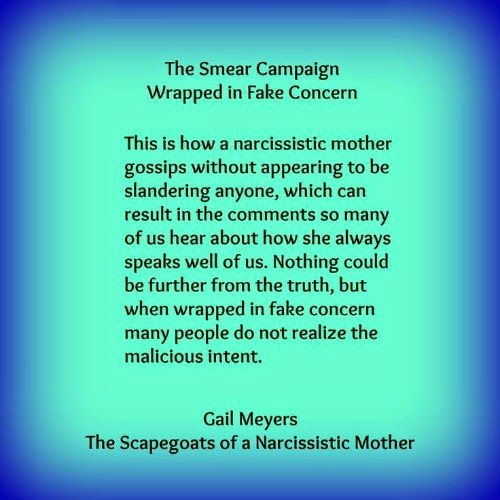 Narcissist smear campaign