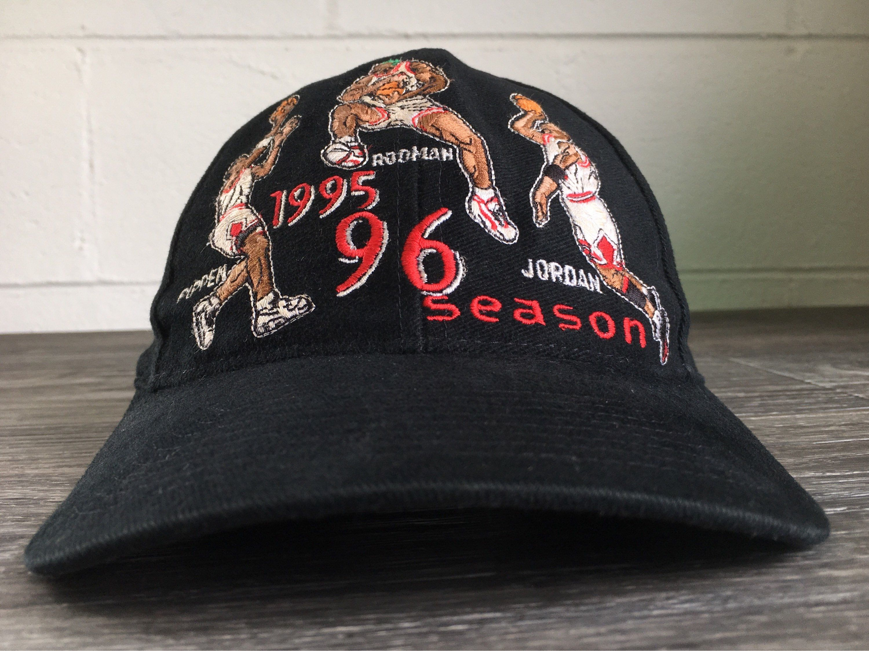 ae340a0ea55 Chicago Bulls Hat Snapback 1995 1996 Season Vtg Michael Jordan Scottie  Pippen Dennis Rodman Sewn Sports Specialities NBA Heavy Cotton Cap by  sweetVTGtshirt ...