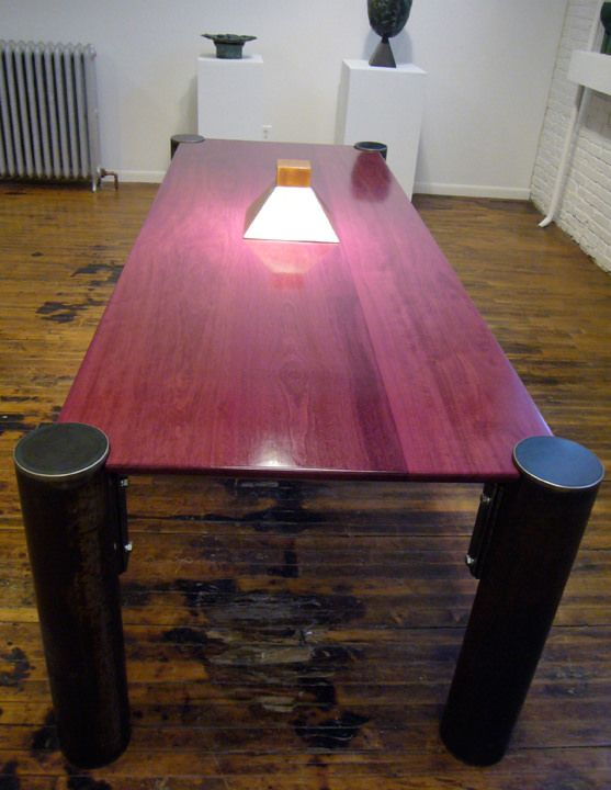 Phenomenal Purple Heart Dining Table Beautiful Tables By Andrew Interior Design Ideas Gresisoteloinfo