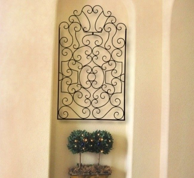 FRENCH TUSCAN Ornate Scroll IRON WALL GRILLE Panel Wall Decor | Iron ...