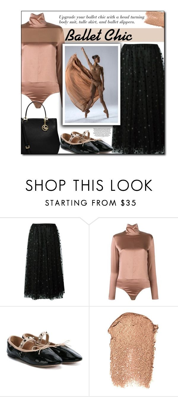 """Ballet Chic"" by sherieme ❤ liked on Polyvore featuring Giamba, Nina Ricci, rms beauty, MICHAEL Michael Kors, chic, ballet, mistycopeland, upgrade and balletchic"