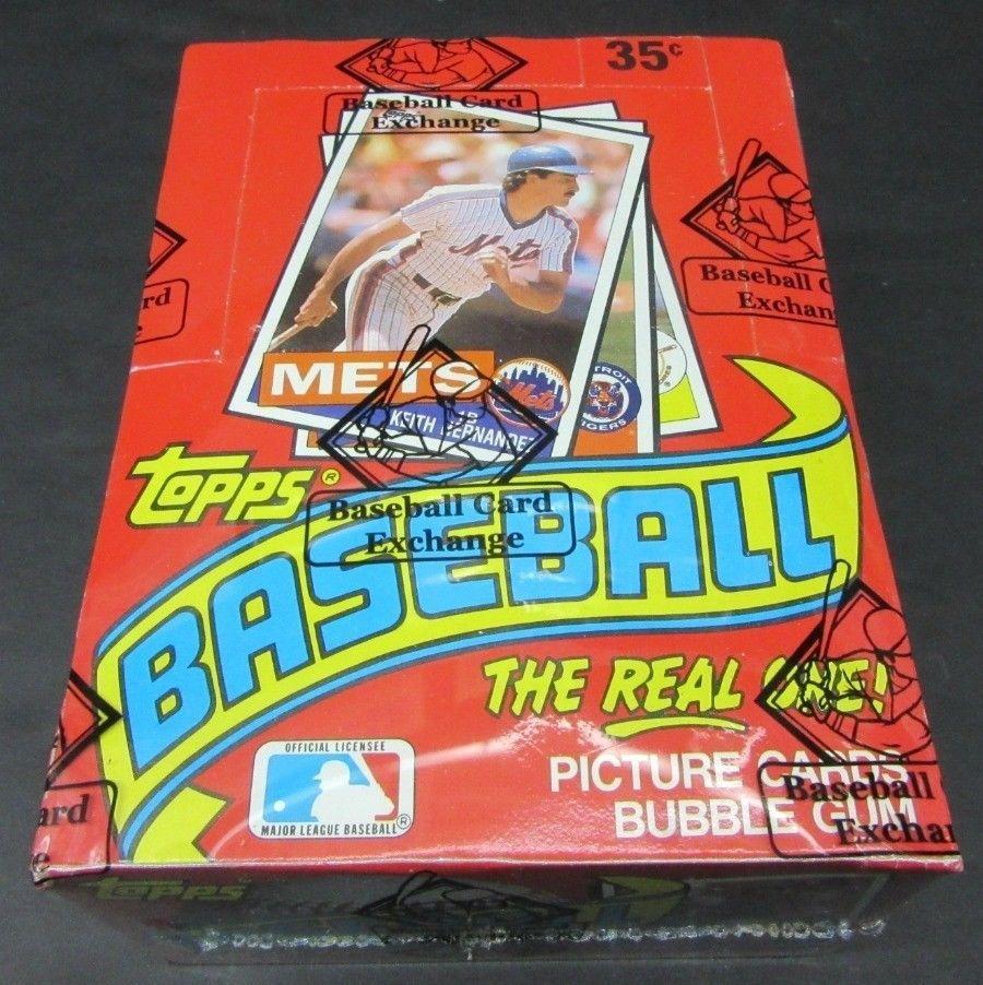 1985 Topps Baseball Unopened Wax Box Bbce Wrapped Sealed Wax
