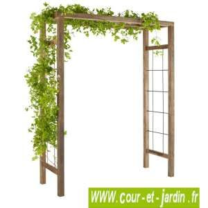 Pergola De Jardin Ikebana Arche De Jardin En Bois Traite Et Teinte Arche Jardin Pergola Bois Jardins En Bois