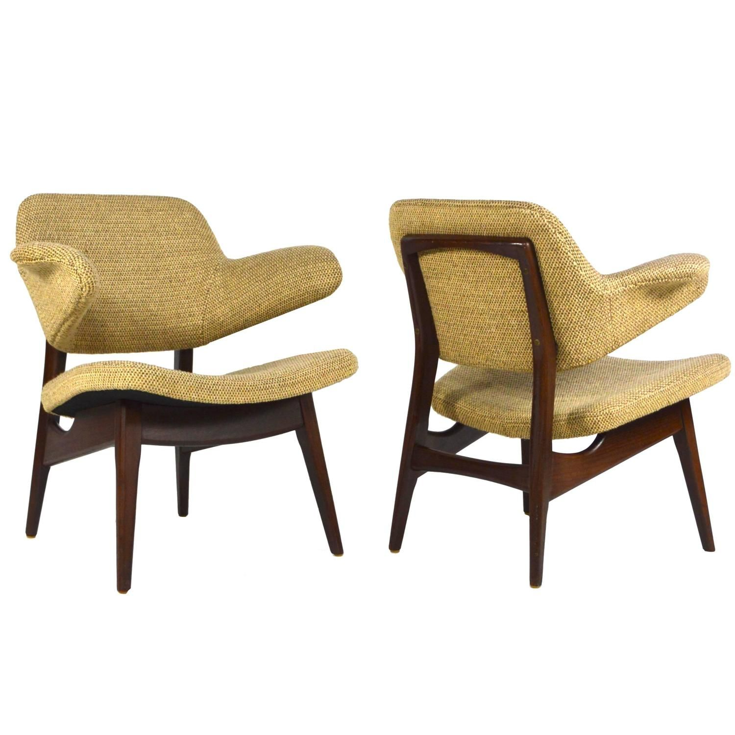 Sold Colorado Usa Pair Of Winged Lounge Chairs By Louis Van Teeffelen For Webe Netherlands 1950 60 S S1561 Meubels Stoelen 1950 S