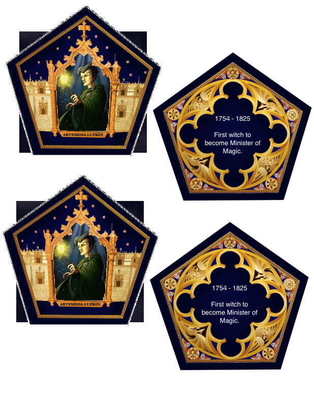 The Empty Suitcase Chocolate Frog Cards Chocolate Frog Card Template Cards