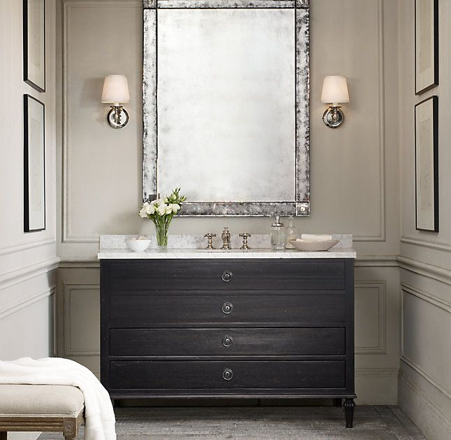 Rh S Maison Single Extra Wide Vanity Inspired By Late 18th