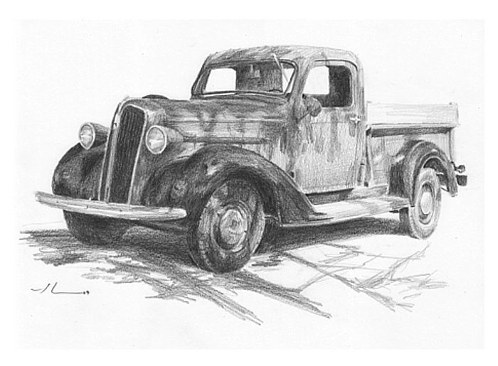truck_pencil_drawing-2.jpg classic truck mike theuer   programs for ...
