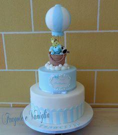 Torta Battesimo Con Mongolfiera Cake Design Torte Cake Torte