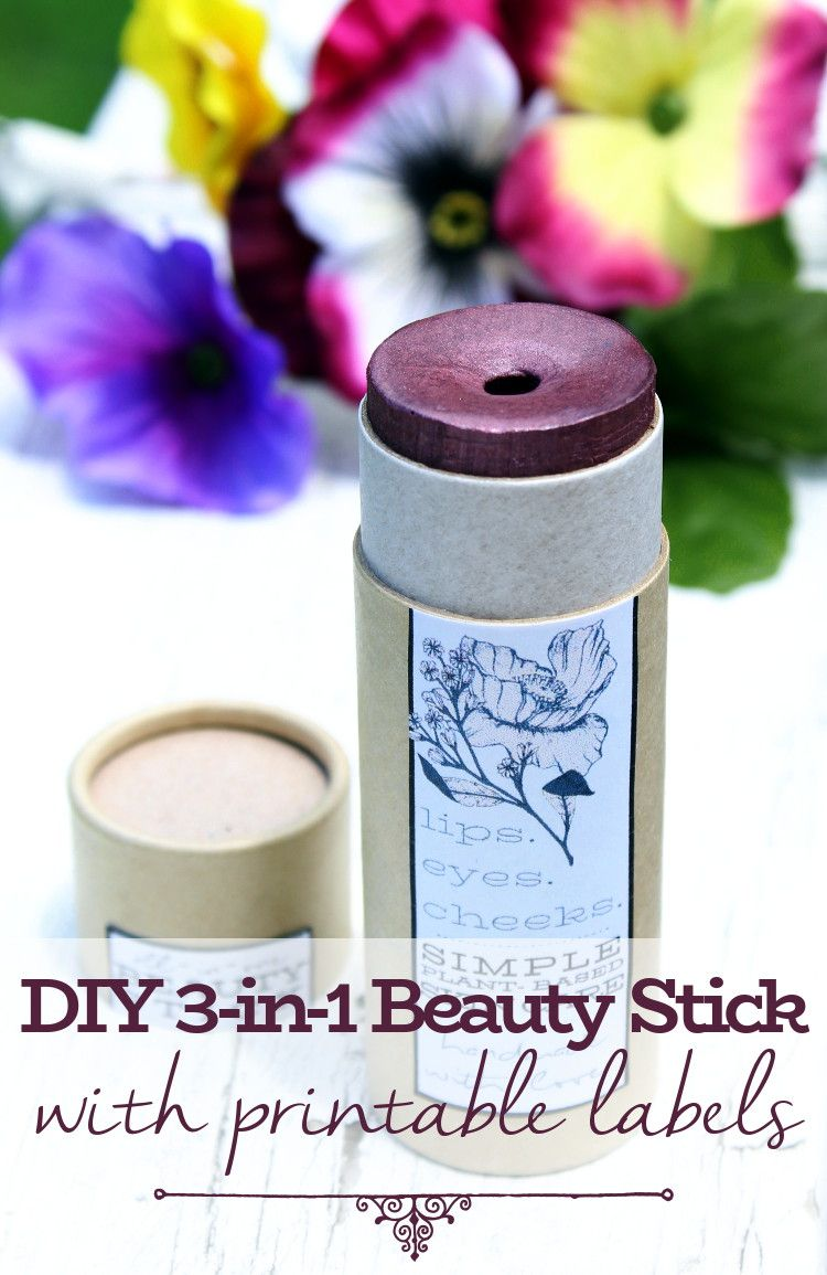All In One Beauty Stick Diy For Lips Eyes Cheeks Eyeshadow Base