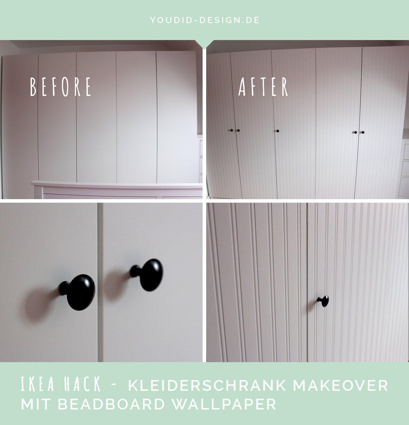 Ikea Hack Pax Kleiderschrank Makeover Mit Beadboard Wallpaper Ikea Pax Kleiderschrank Pax Kleiderschrank Ikea Kleiderschrank