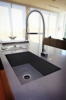 Caesarstone Quartz Concrete Countertop / Integrated Sink   Contemporary    Kitchen   Seattle   By Stone Pros Marble And Granite, Inc.