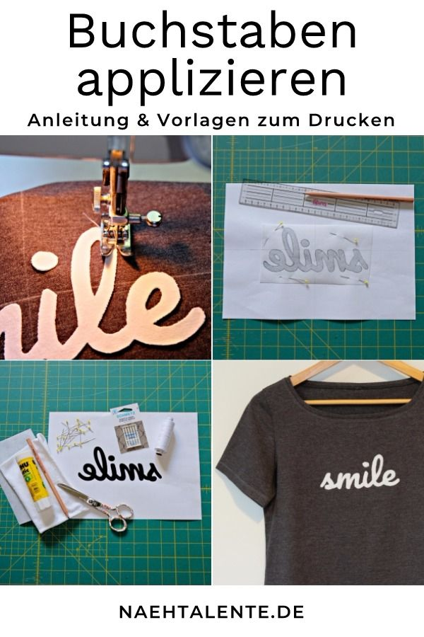 Buchstaben applizieren & Vorlagen zum Drucken   nähen   Pinterest ...