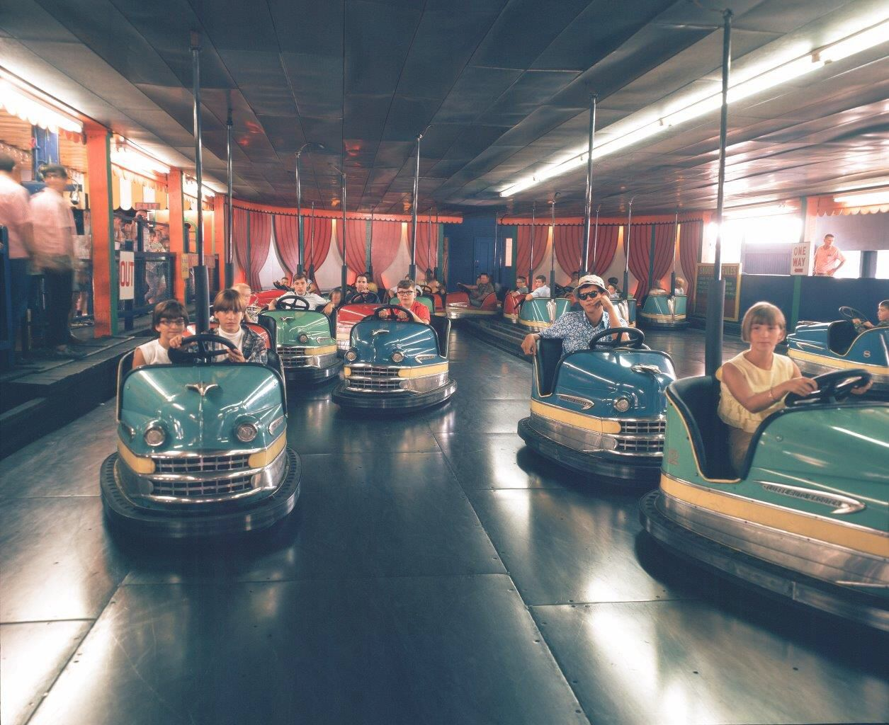 Old bumper car ride at Elitches in Denver. How I loved this ride ...