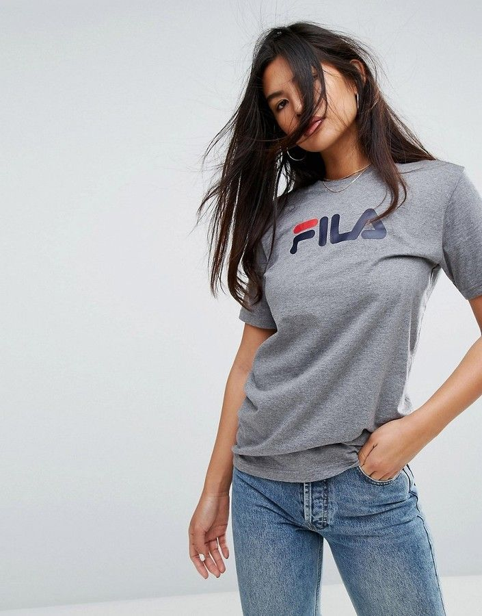 a50701fc3acf Fila oversized boyfriend t-shirt with chest logo in 2019 | colOred ...