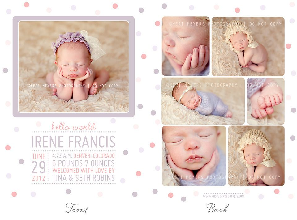 simply clean birth announcement template 3 photobooks guides