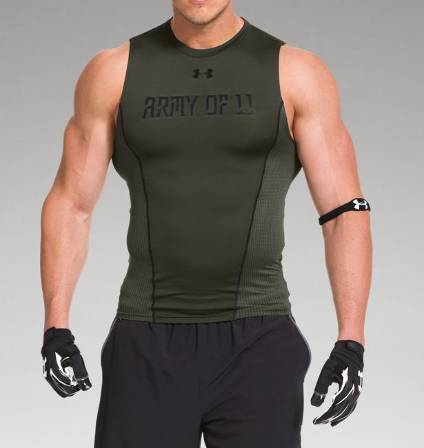 93760dfd33a Men s UA Army Of 11 Football Sleeveless Compression Shirt (Under Armor  Fashion)