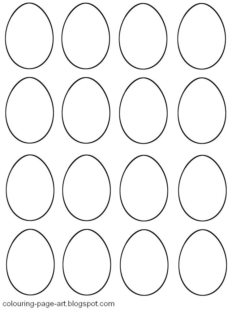 Blank Template 16 Small Jpg 750 1 000 Pixels Easter Egg Template Egg Template Simple Easter Eggs