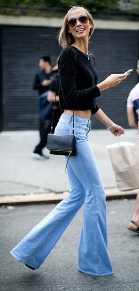 An ode to denim... classic flares!