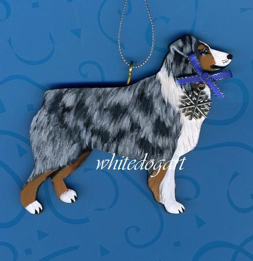 Custom Handpainted Australian Cattle Dog Christmas by whitedogart - Custom Handpainted Australian Cattle Dog Christmas Ornament