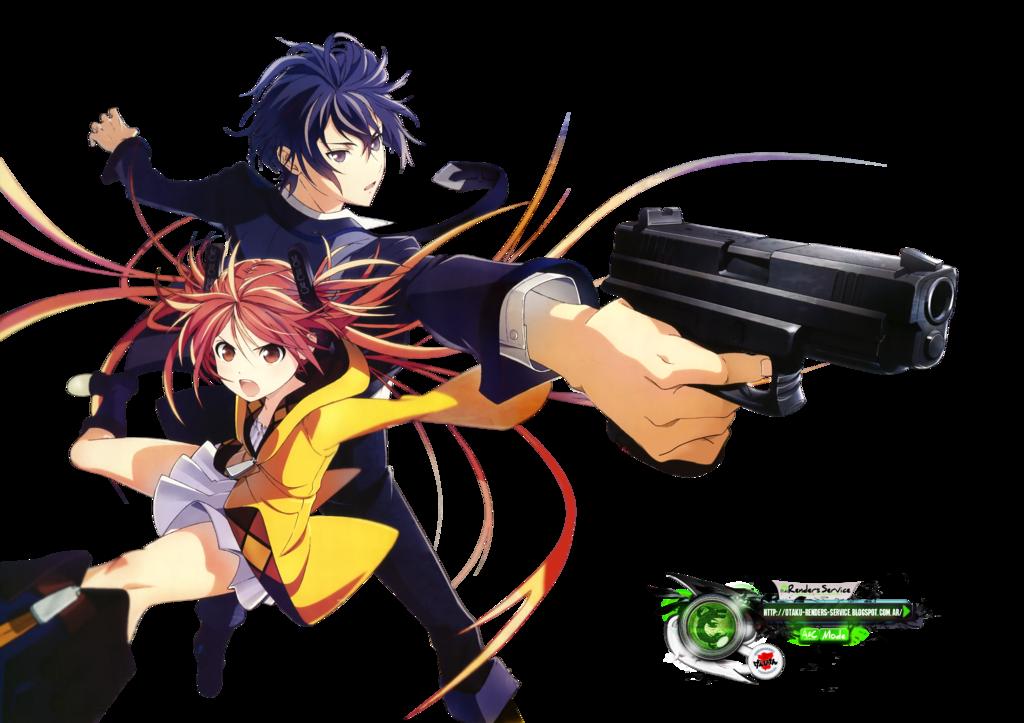 Black BulletAihara Enju+Satomi Rentarou HD PNG by
